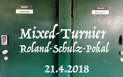 Mixed-Turnier am 21.4.2018