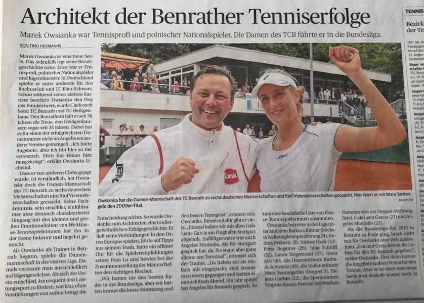 Architekt der Benrather Tenniserfolge